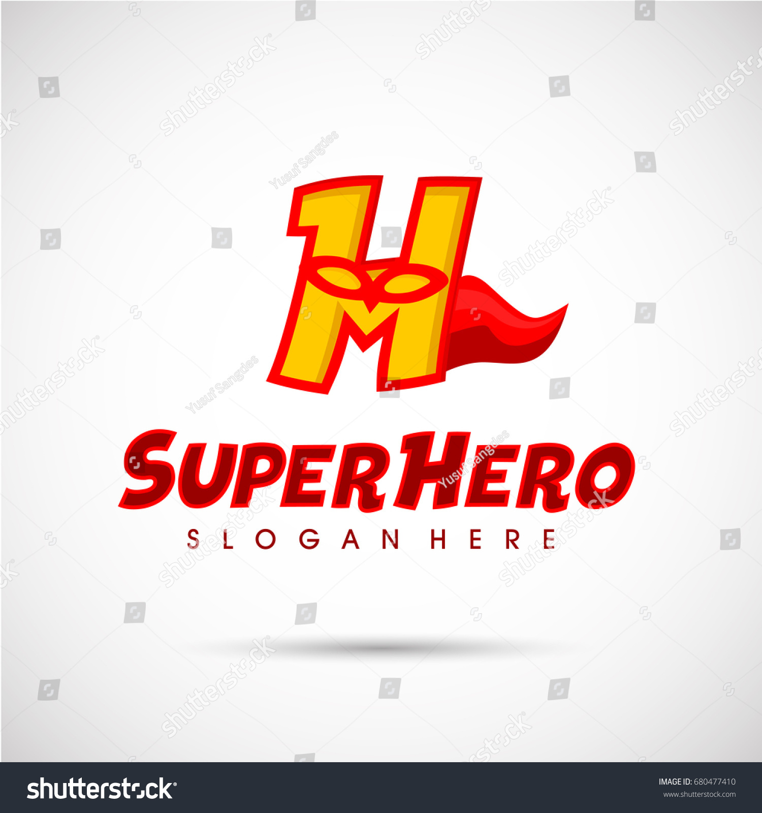 Superhero Logo Template Letter H Mask Stock Vector Royalty Free