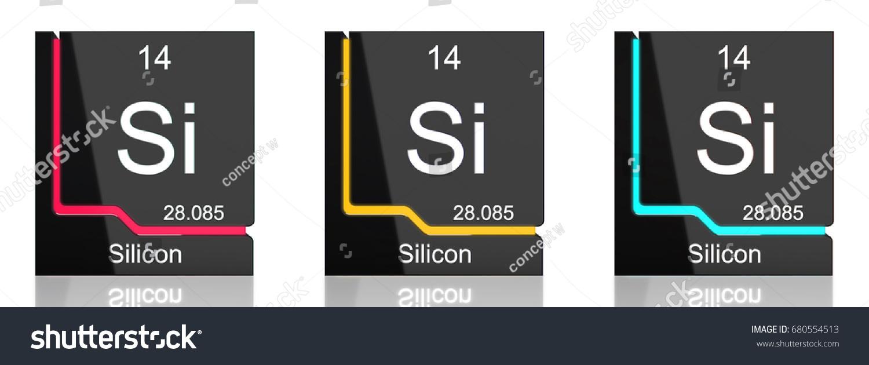 Silicon element symbol periodic table three stock illustration silicon element symbol from the periodic table in three colors gamestrikefo Gallery