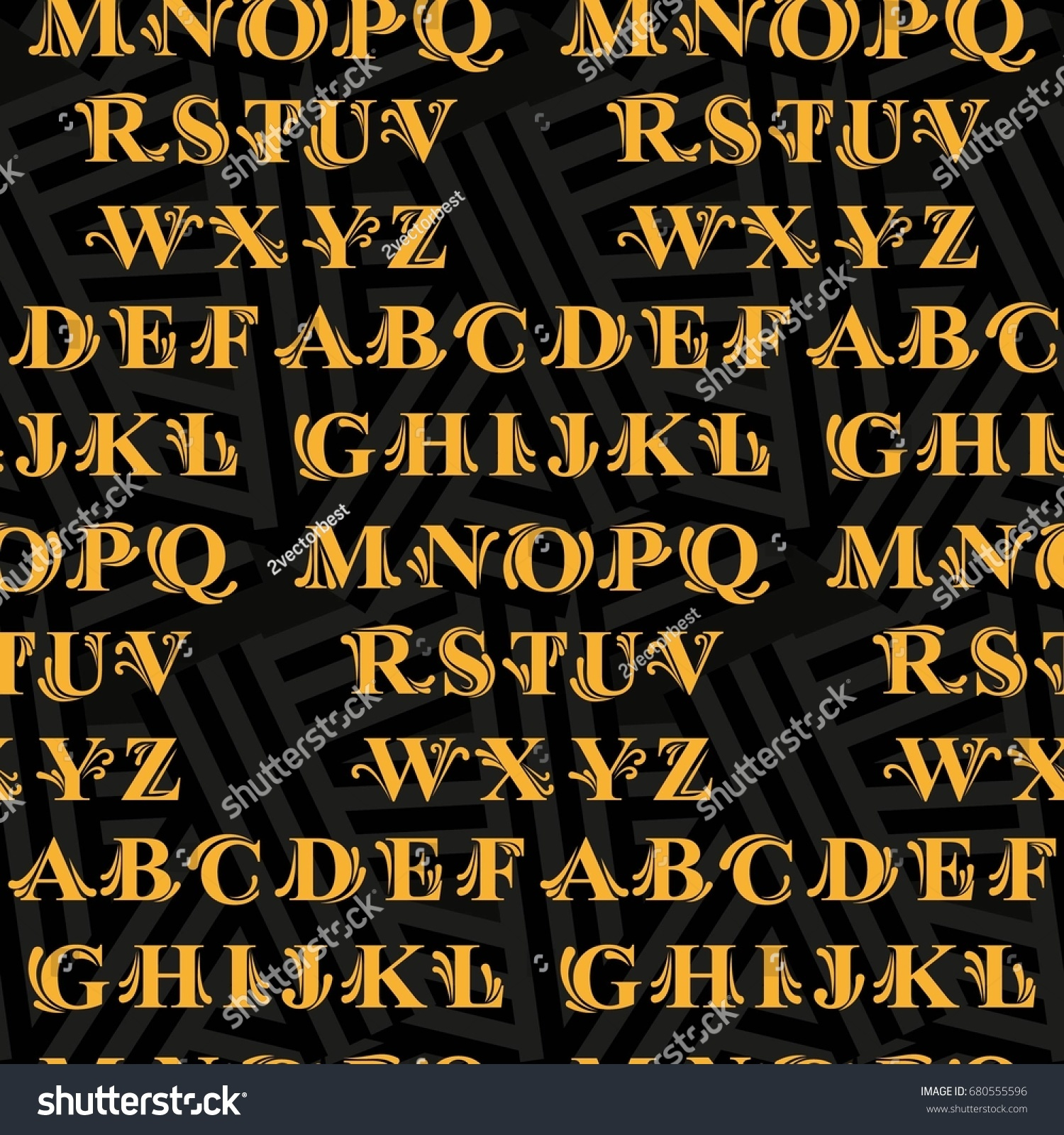 Letters Pattern Background Texture Vector Illustration Stock Vector Royalty Free 680555596