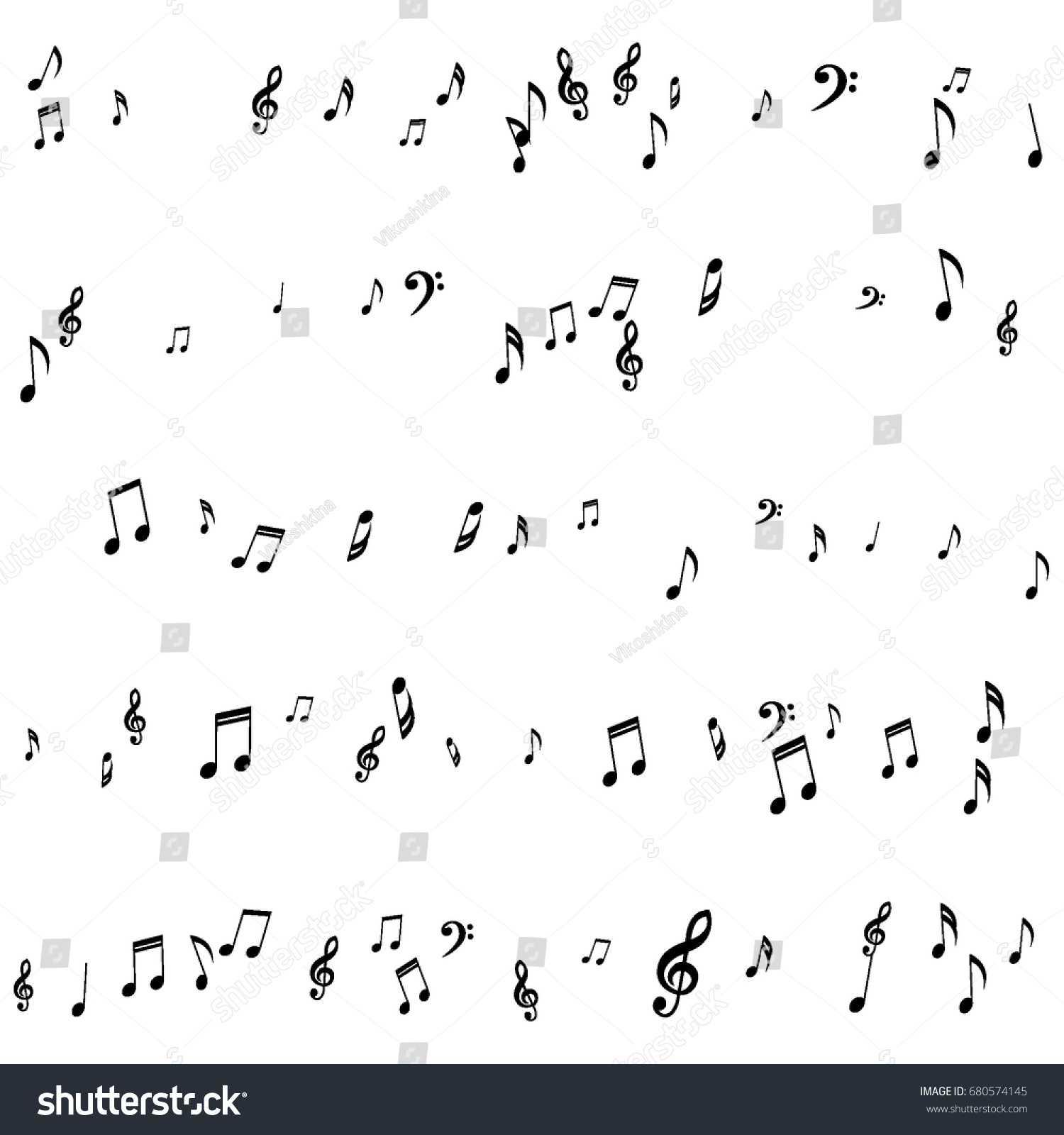 Treble clef pictures images for tatouage treble clef pictures pertaining to musical background notes bass treble clef stock vector 680574145 biocorpaavc Gallery