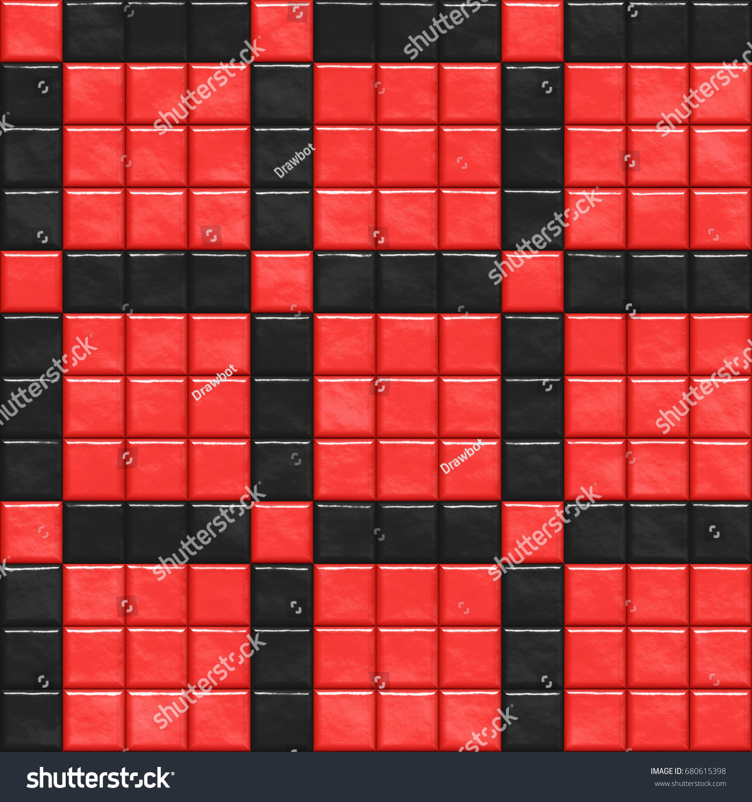 Red ceramic tile