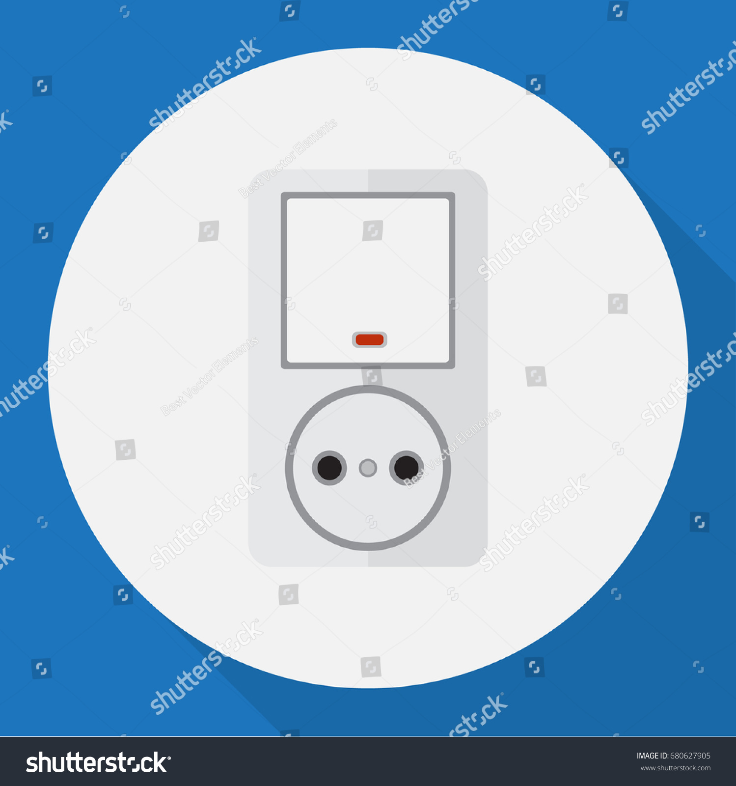 Vector illustration electrical symbol on switch stock vector vector illustration of electrical symbol on switch with socket flat icon premium quality isolated jack biocorpaavc Images