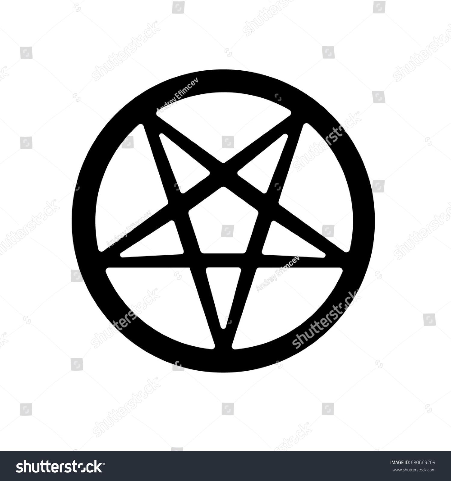 Satanic pentagram symbol icon vector stock vector 680669209 satanic pentagram symbol icon vector biocorpaavc Choice Image