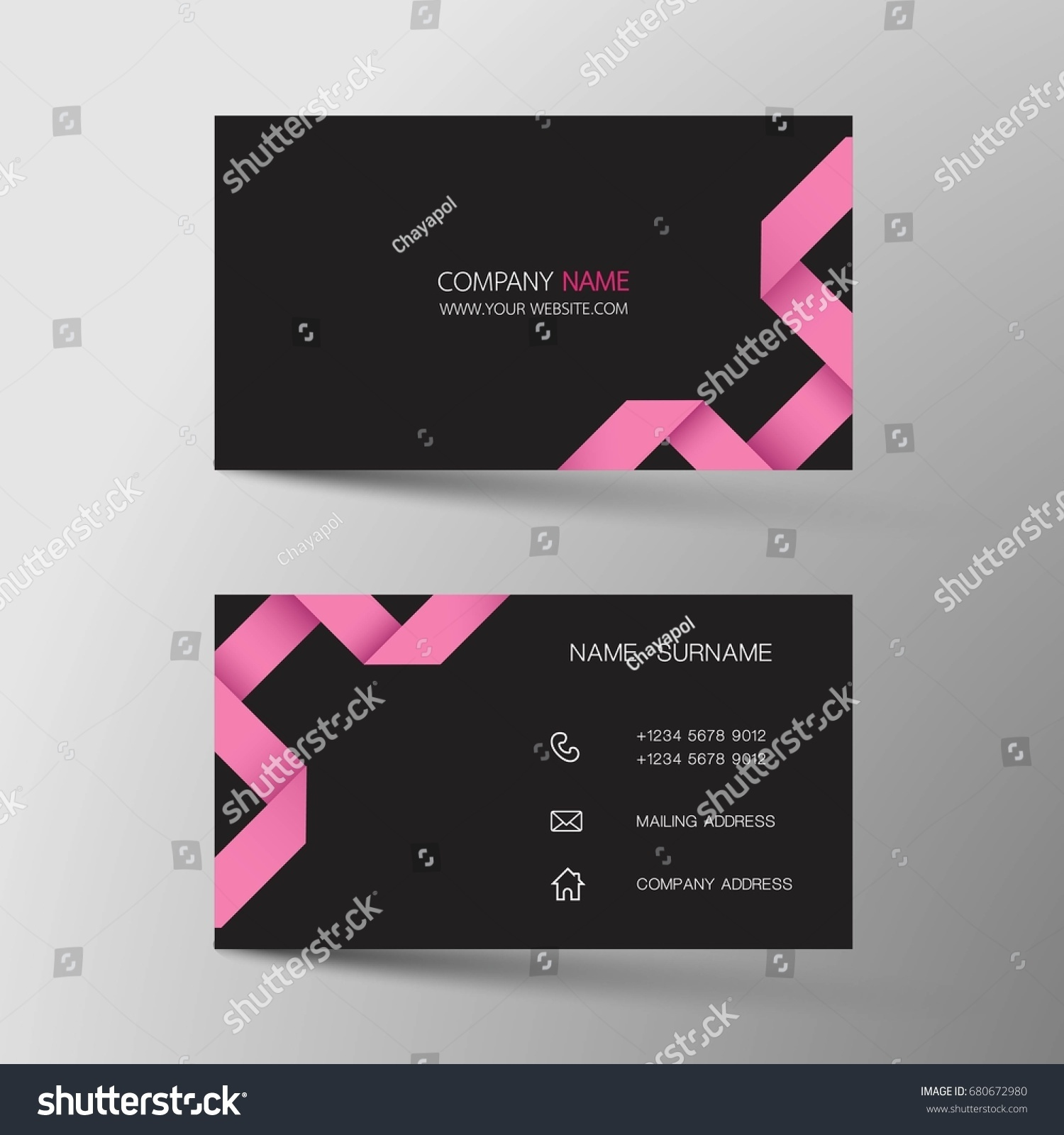 Business Card Inspired By Origamivector Modern Stock Vector ...
