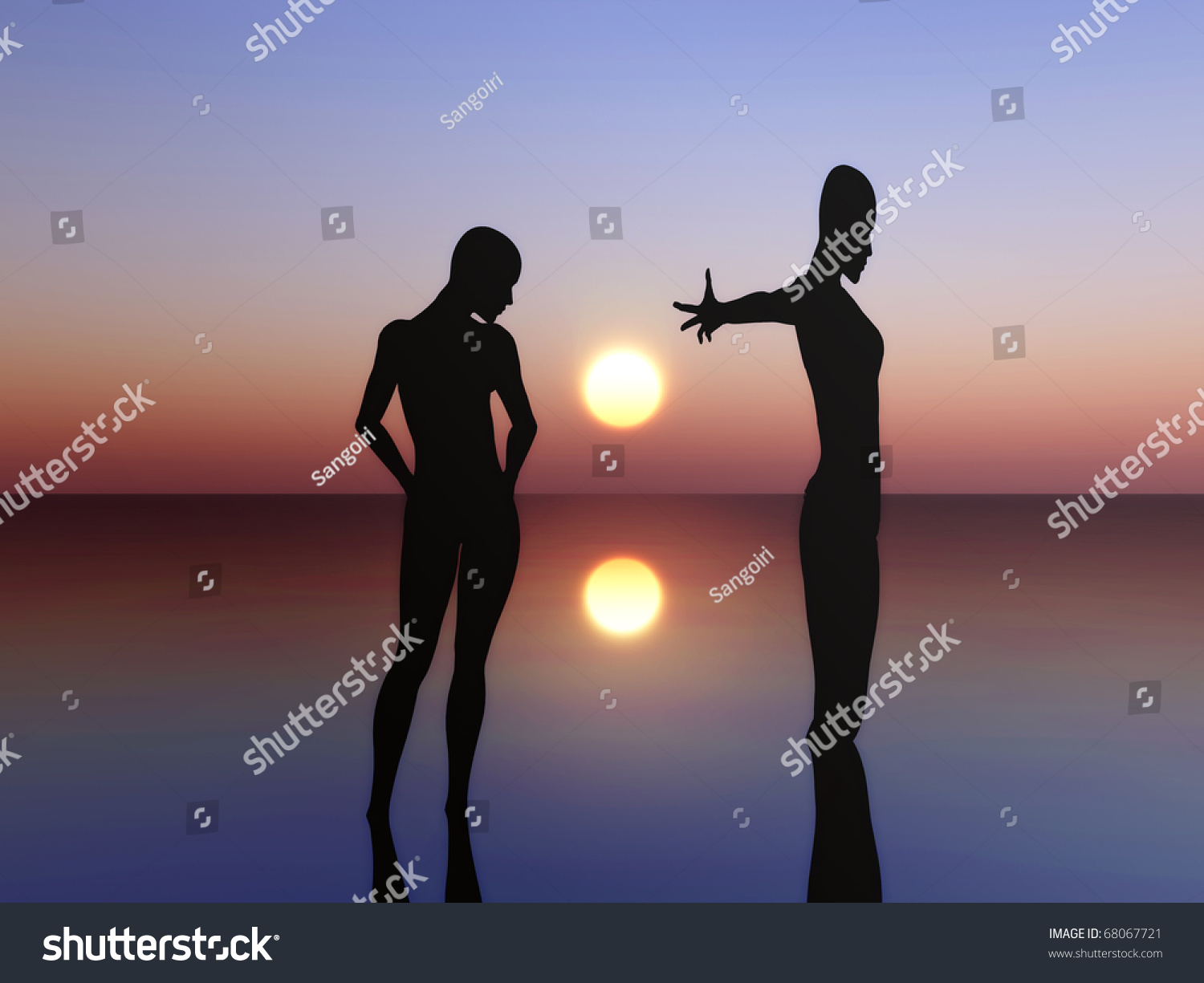 Two people expressing their feeling symbol stock illustration two people expressing their feeling a symbol for friendship emotions feelings as well buycottarizona Choice Image