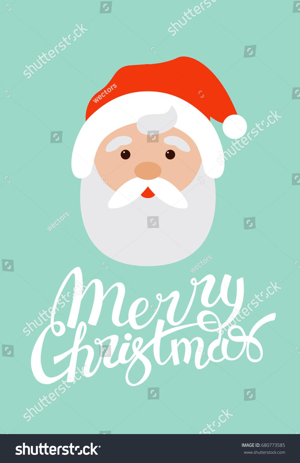 Merry Christmas Design Santa Claus Greeting Stock Vector 680773585