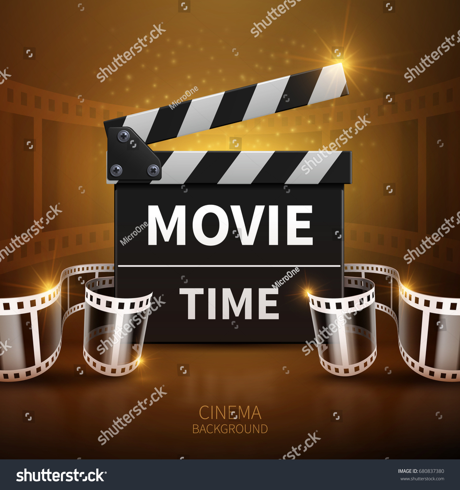 Line Movie Television Vector Background Cinema Stock