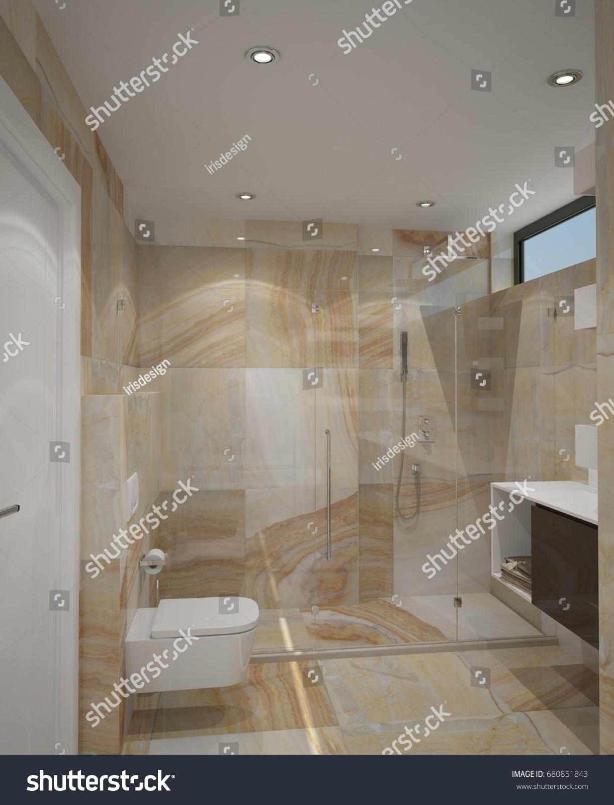3d rendering bathroom interior design stock illustration for Bathroom interior design 3d