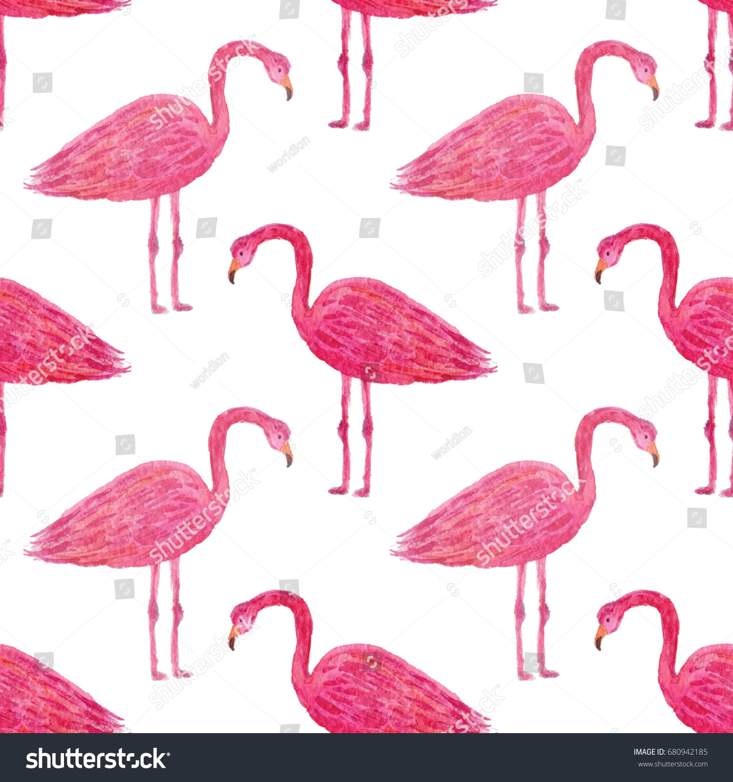Flamingo pattern Flamingo seamless texture 3d style Isolated on