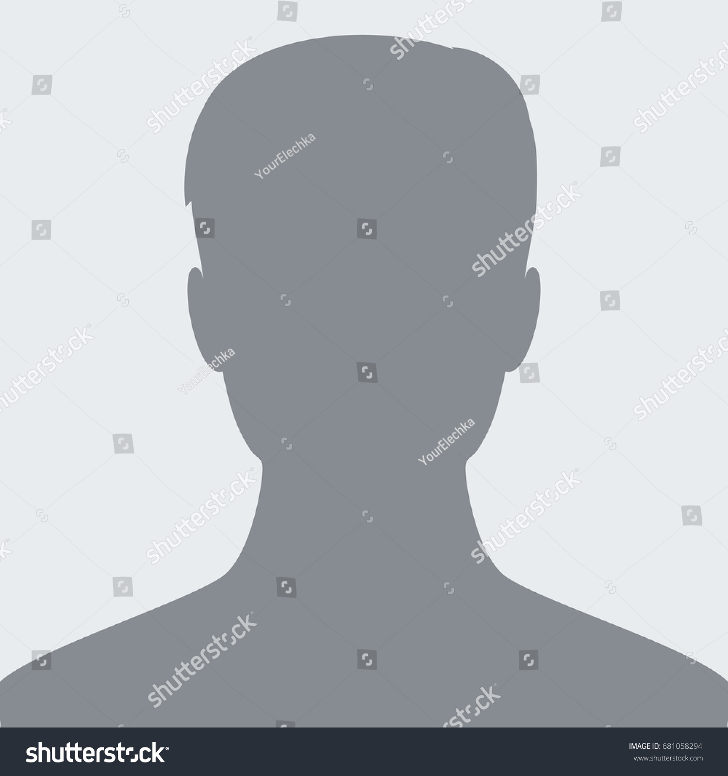 Default Avatar Profile Icon Man Placeholder Stock Vector Royalty Free 681058294