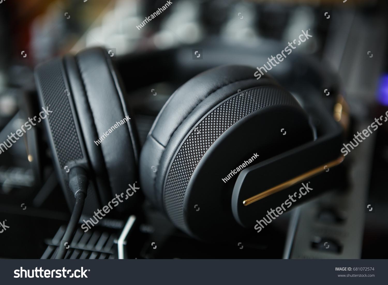 Hip Hop Dj Headphones Sound Recording Stock Photo (Edit Now