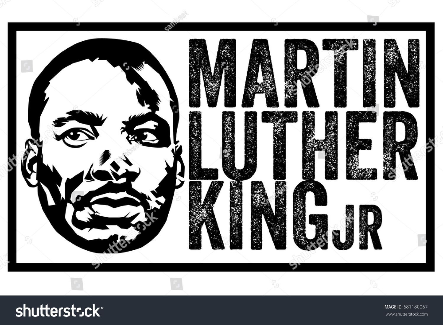 Vector Ink Art Martin Luther King Stock Vector Royalty Free