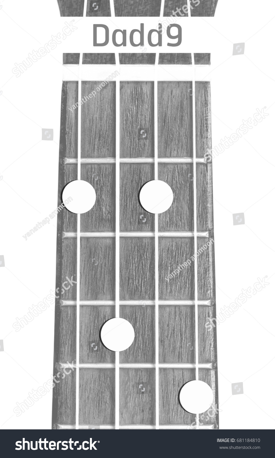 Ukulele Chord Dadd 9 On White Background Stock Photo Edit Now