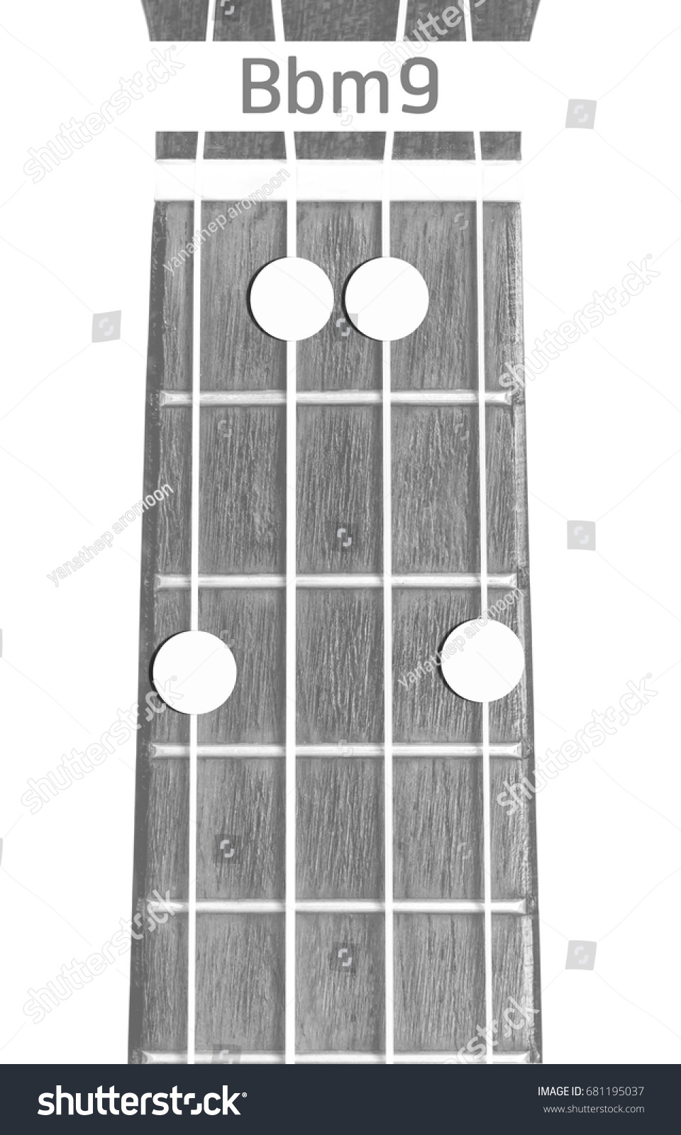Ukulele chord bbm9 on white background stock photo 681195037 ukulele chord bbm9 on white background isolate hexwebz Choice Image
