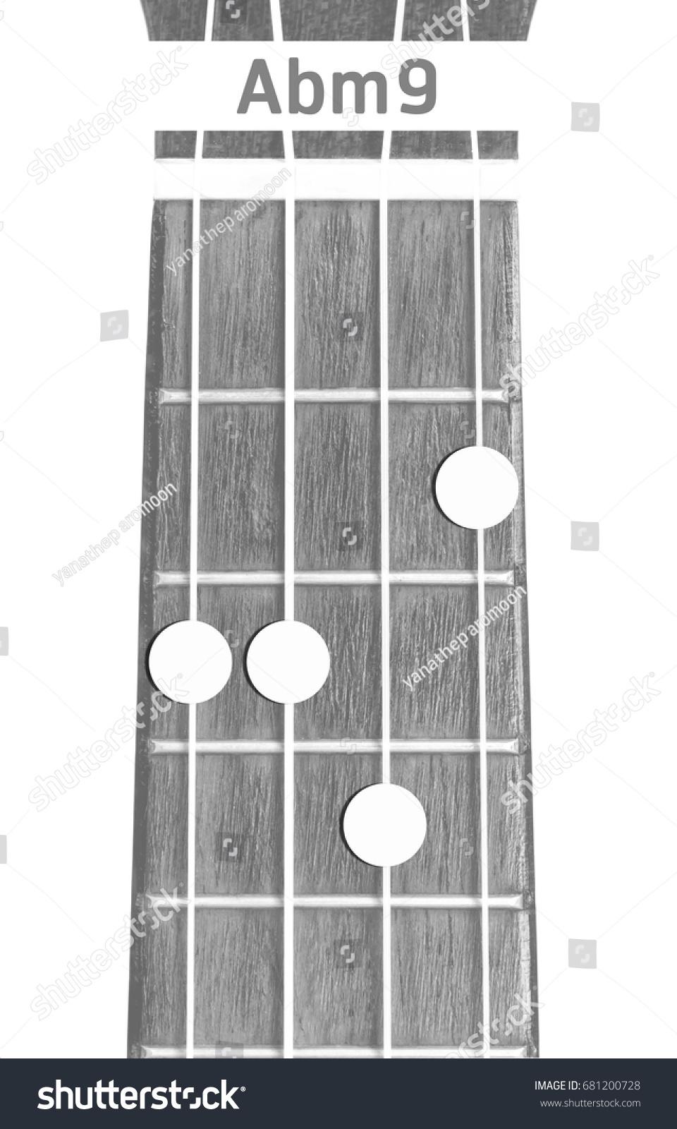 Ukulele Chord Abm 9 On White Background Stock Photo Edit Now