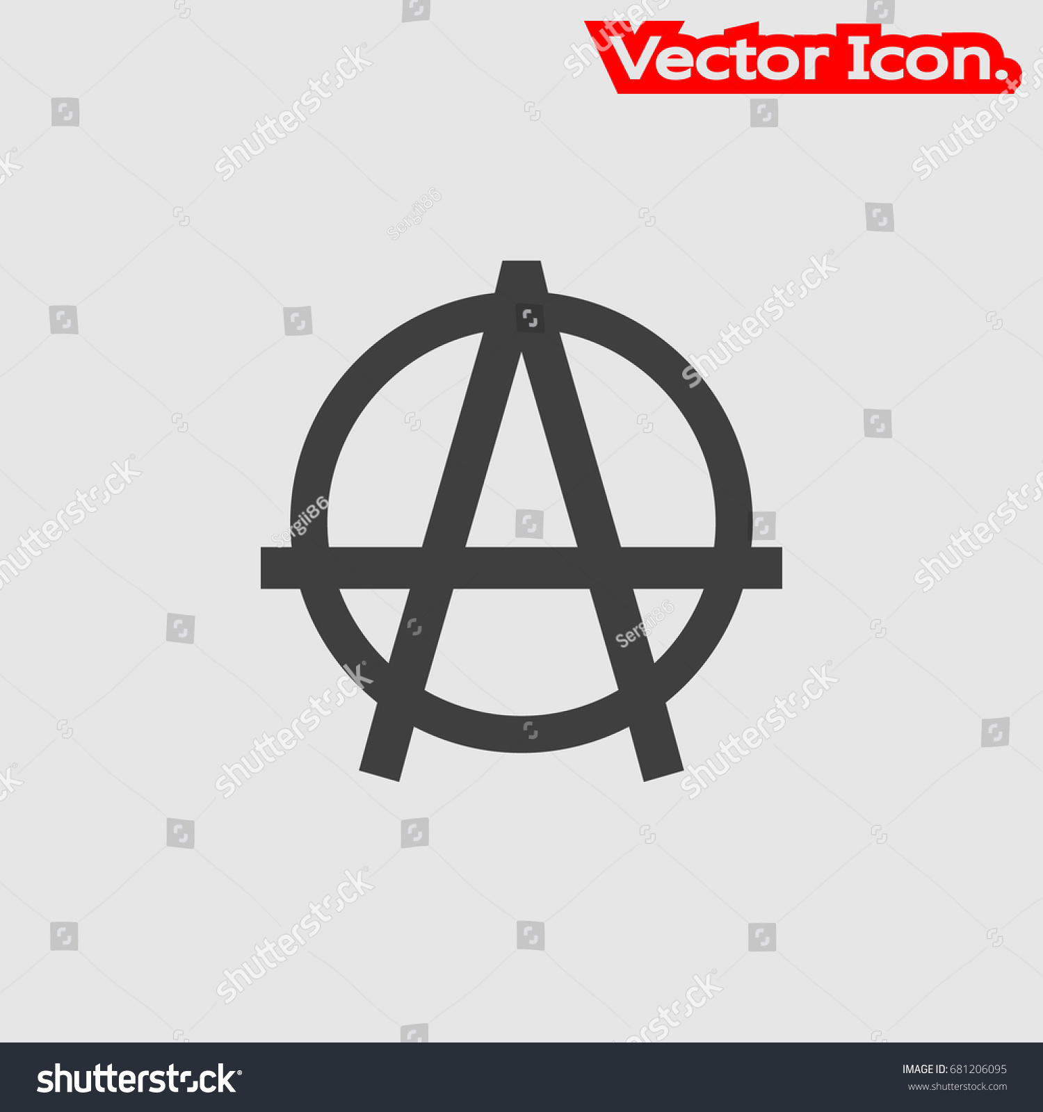 Anarchy icon isolated sign symbol flat stock vector 681206095 anarchy icon isolated sign symbol and flat style for app web and digital design buycottarizona