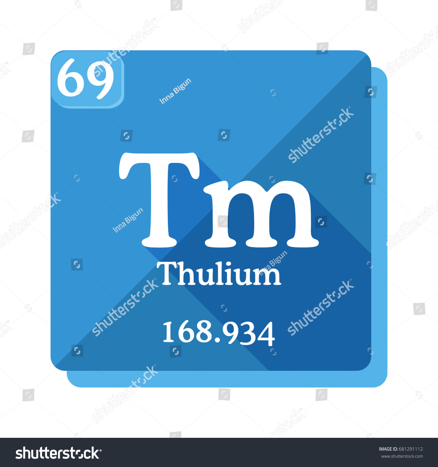 Thulium tm element periodic table vector stock vector 681291112 thulium tm element of the periodic table vector illustration in flat style gamestrikefo Gallery