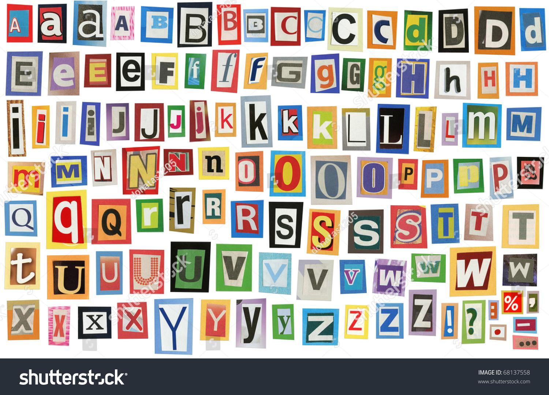 magazine letter fonts