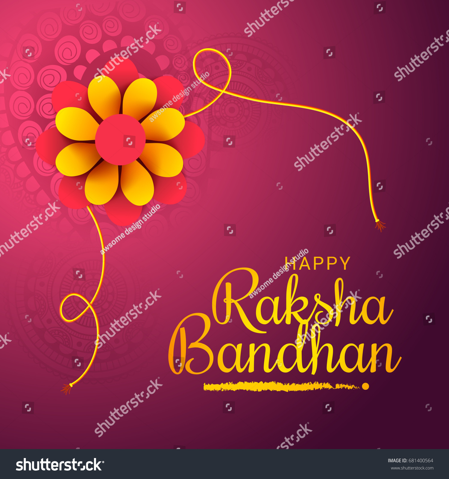 Illustrationgreeting card decorative rakhi raksha bandhan stock illustrationgreeting card of decorative rakhi for raksha bandhan background m4hsunfo