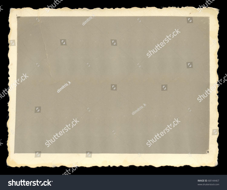 Vintage Old Blank Photograph Design Element Stock Photo