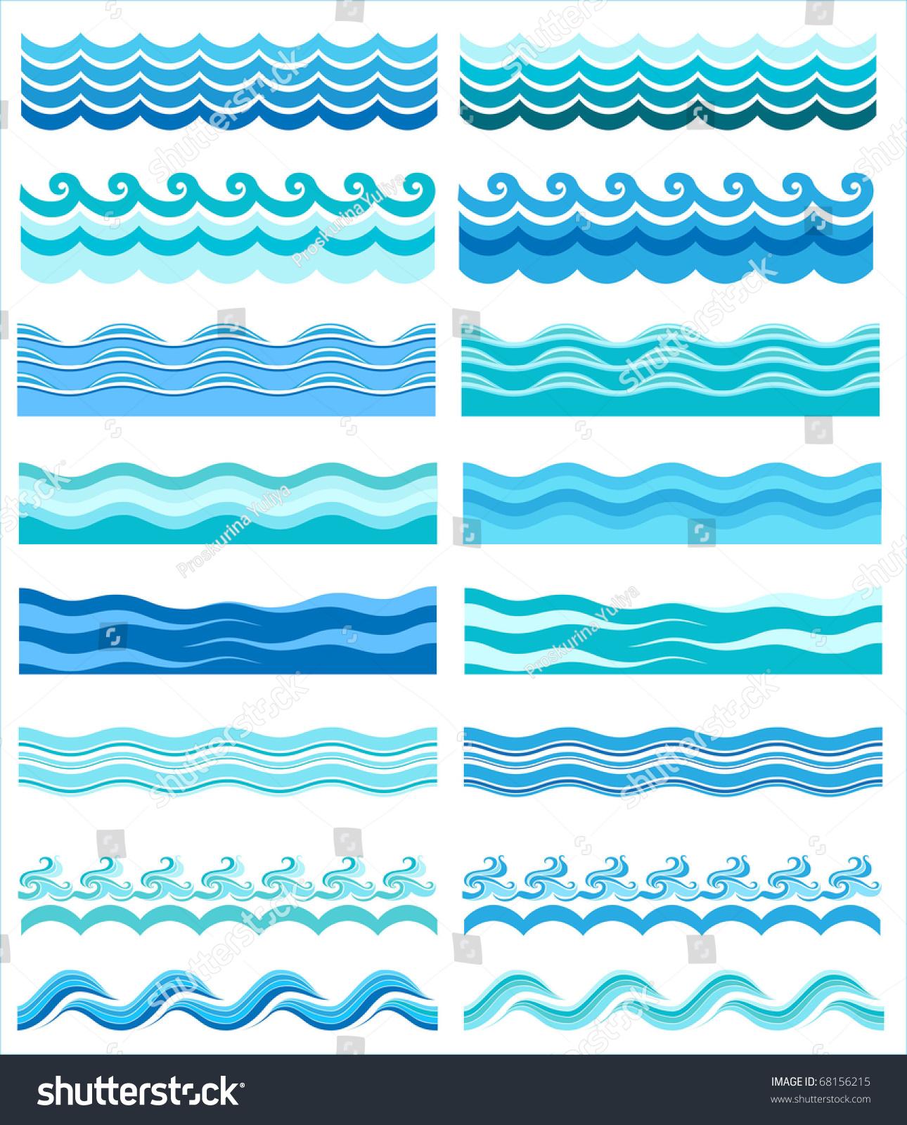 Схема рисунка моделей волны