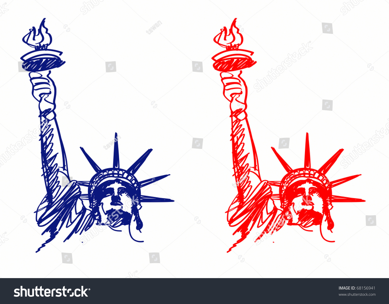vector image american symbols freedom stock illustration