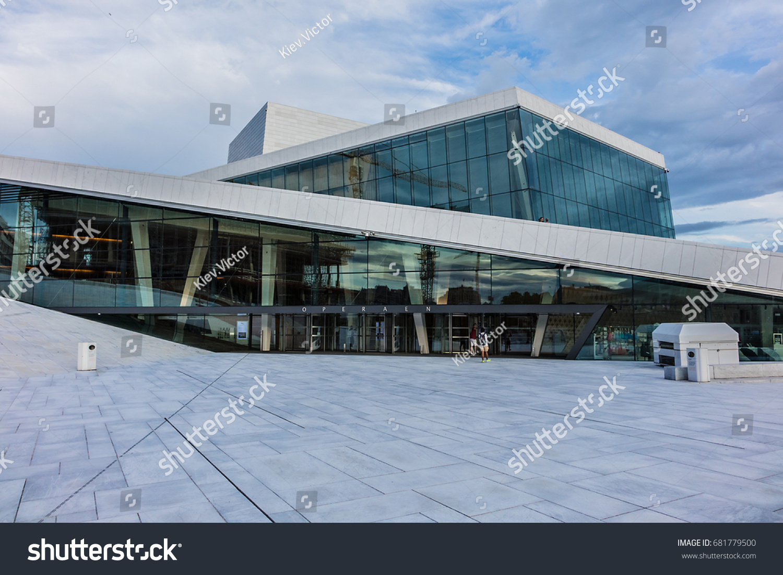 OSLO, NORWAY   JUNE 14, 2017: The Oslo Opera House (Operahuset, Awesome Ideas