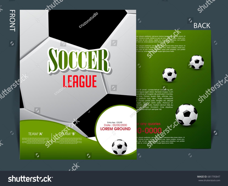 Soccer Event Flyer Template Eps10 Football Vector 681795847 – Soccer Flyer Template