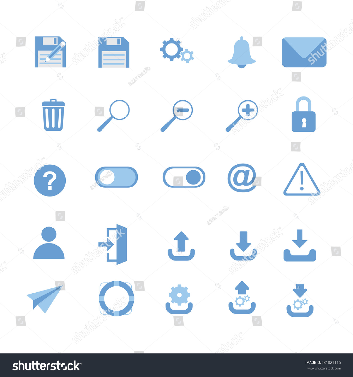 User Interface Icons Save Save Download Stock Vector