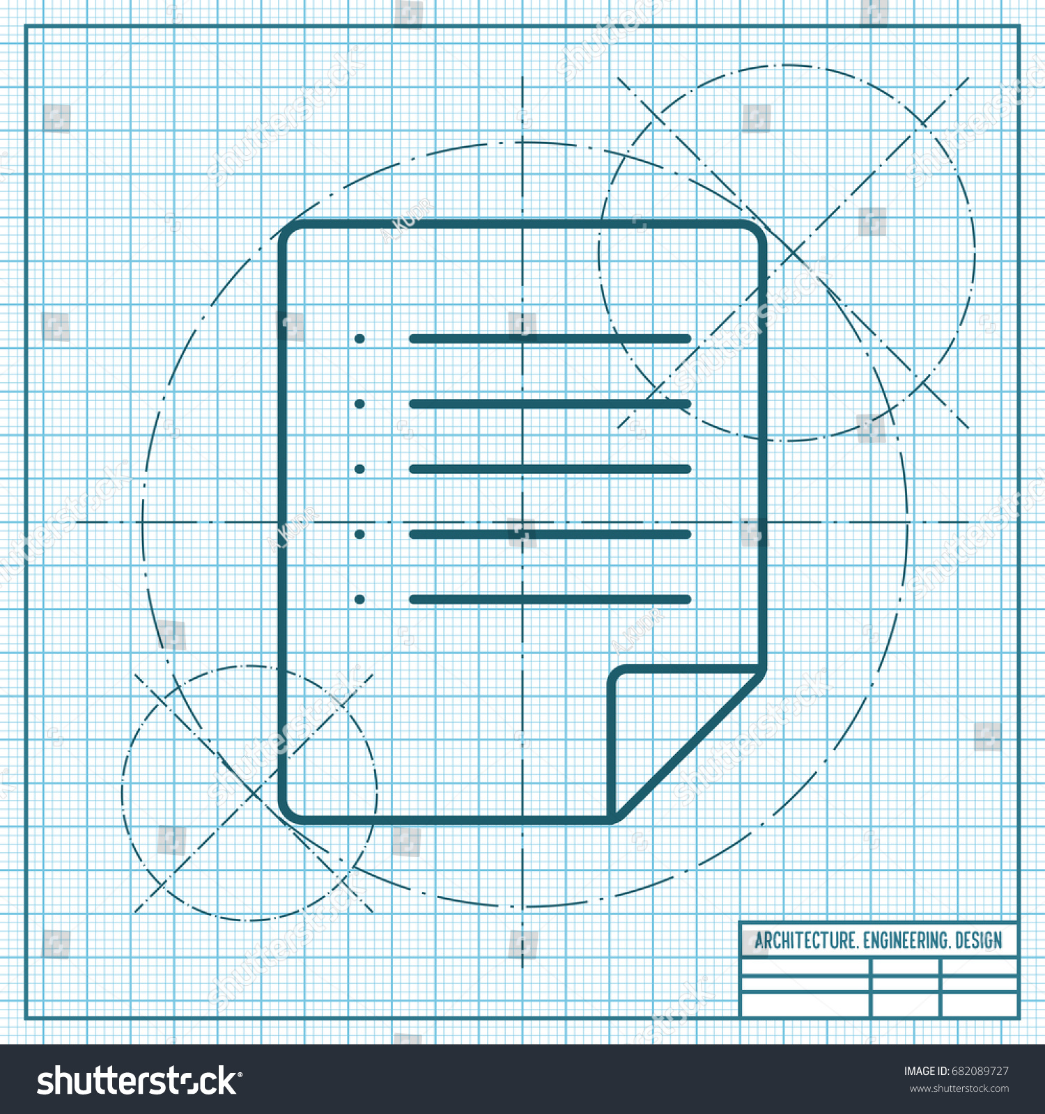 Vector blueprint document icon on engineer stock vector 682089727 vector blueprint document icon on engineer and architect background malvernweather Image collections