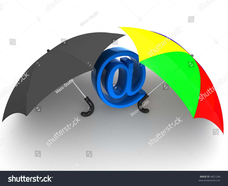 Symbol Internet Umbrella 3 D Stock Illustration 6821248 Shutterstock