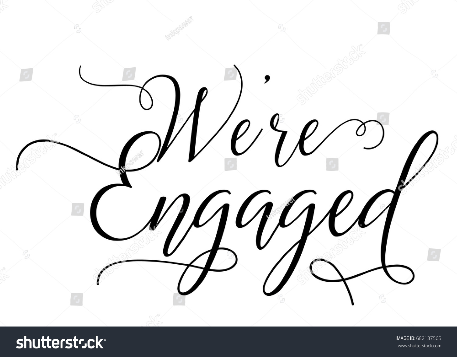 script text wedding sign word art for we are engaged ez canvas