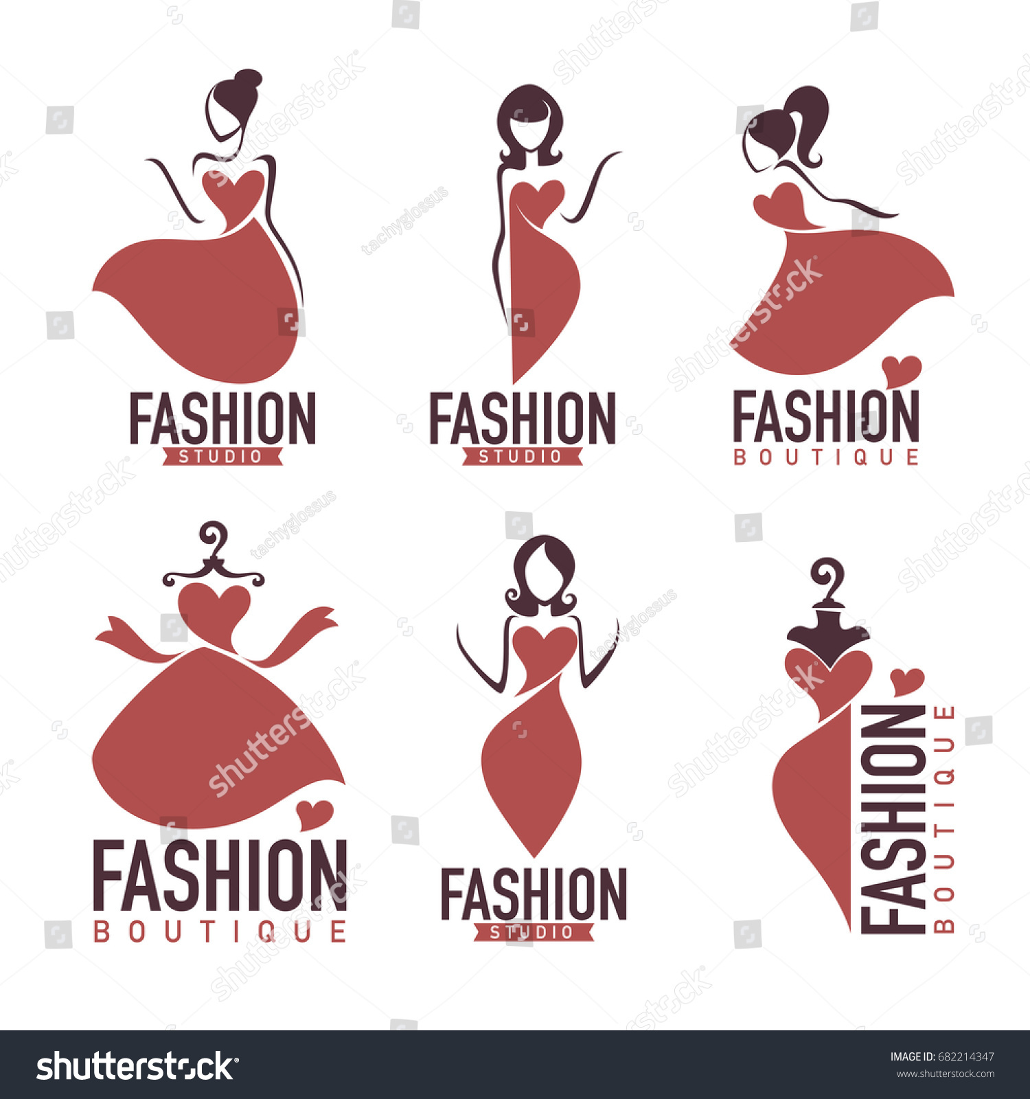 Fashion beauty salon studio boutique logo stock vector for 560 salon grand junction