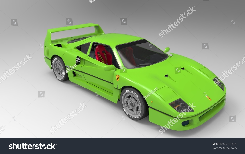 3 d model very cool car stock illustration 682275601 shutterstock