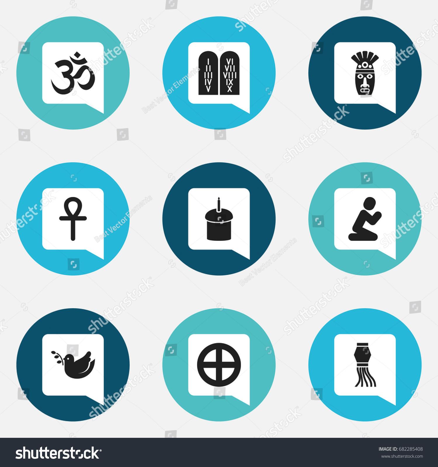 Set 9 editable faith icons includes stock vector 682285408 set of 9 editable faith icons includes symbols such as ancient stone text egyptian biocorpaavc