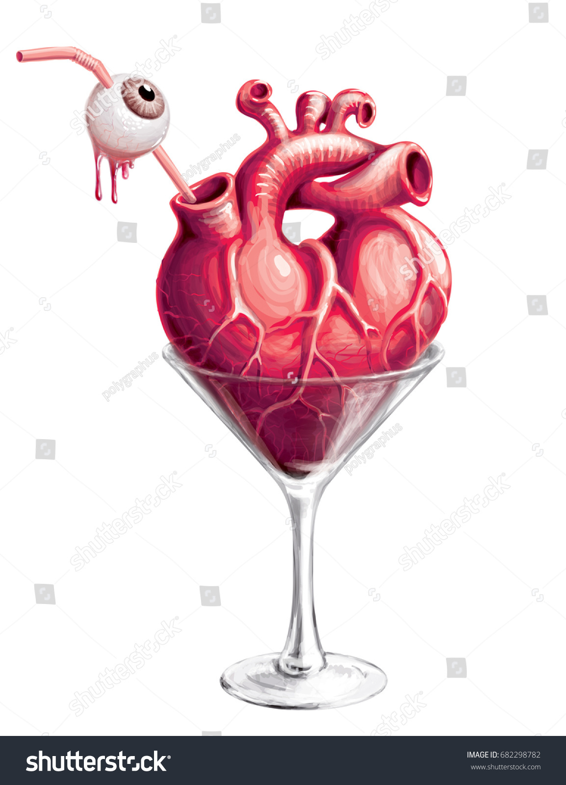 Royalty Free Stock Illustration Of Halloween Cocktail Martini Glass