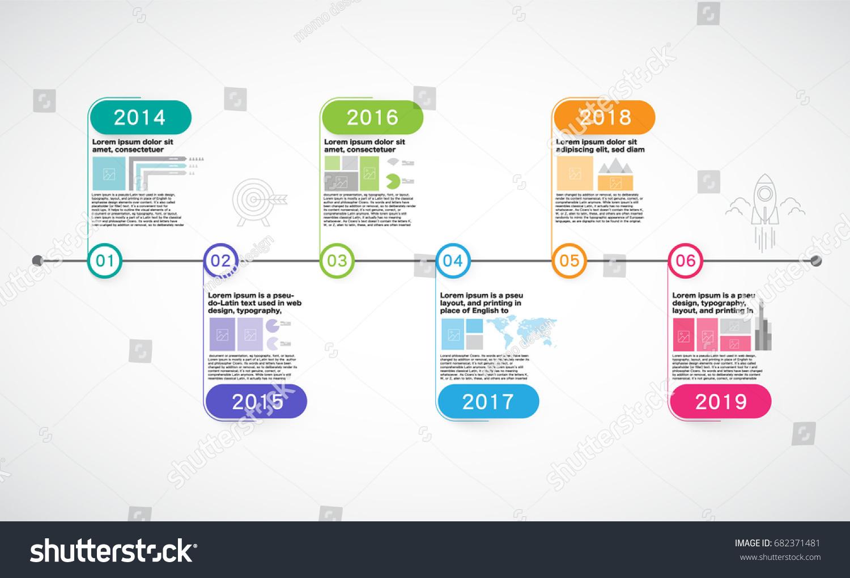 milestone company timeline roadmap infographic vector stock vector