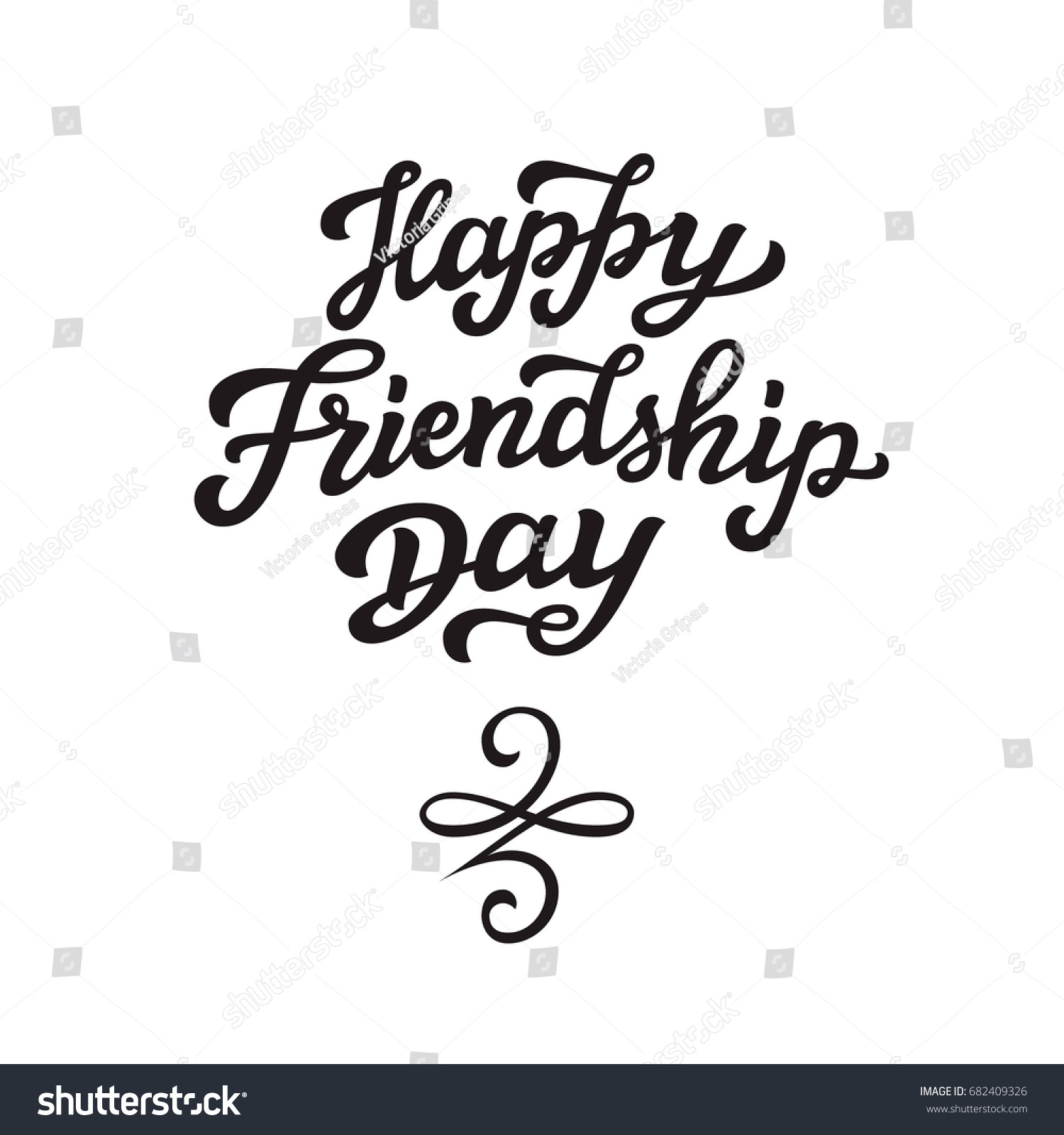 Happy friendship day lettering august holiday stock vector happy friendship day lettering august holiday hand drawn typography text with celtic symbol of biocorpaavc