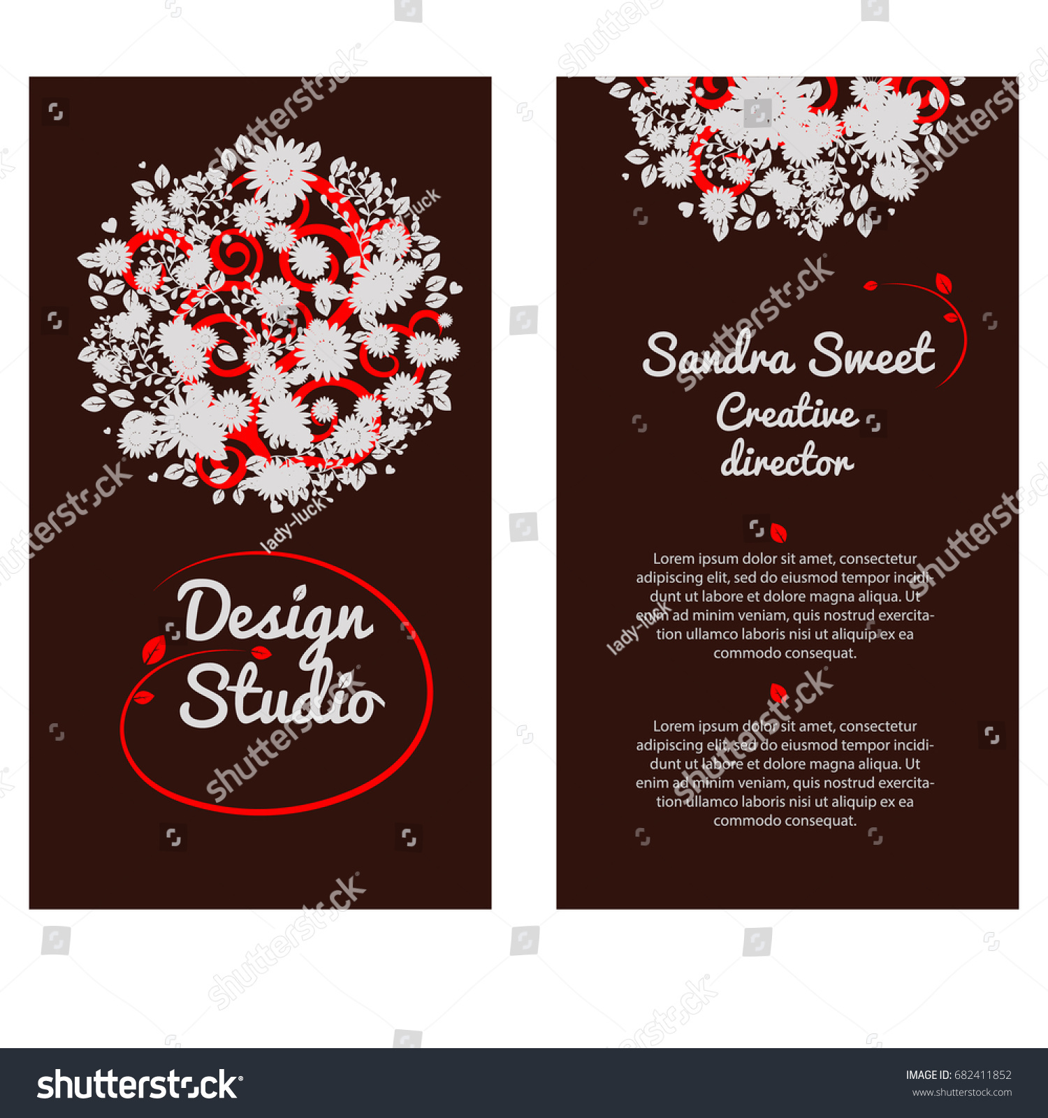 Stylish template modern design abstract creative stock vector stylish template with modern design of abstract creative business card or visiting card decorative element junglespirit Image collections