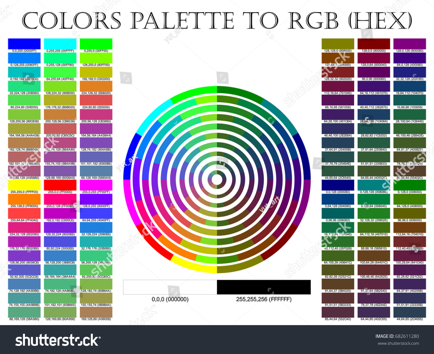 Color Palette Composition Shade Chart Conform Stock Vector Royalty