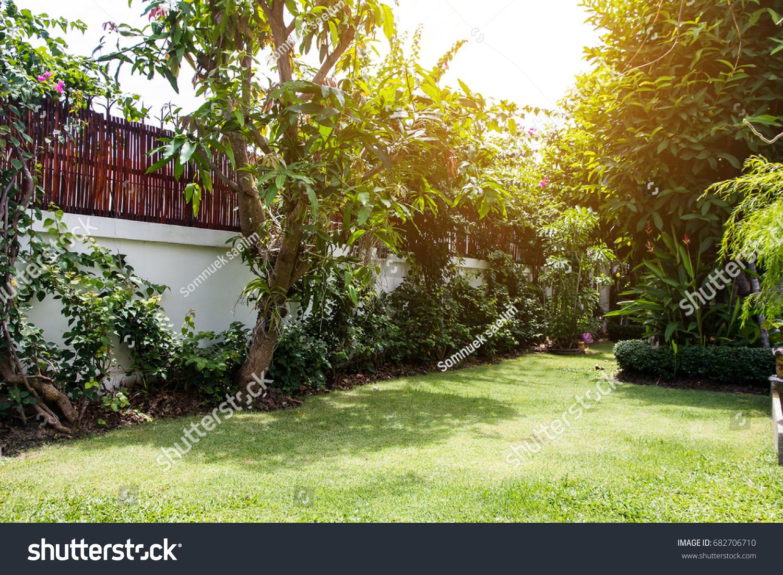 Beautiful Corner Small Gardendecoration Gardening Landscaping Stock ...