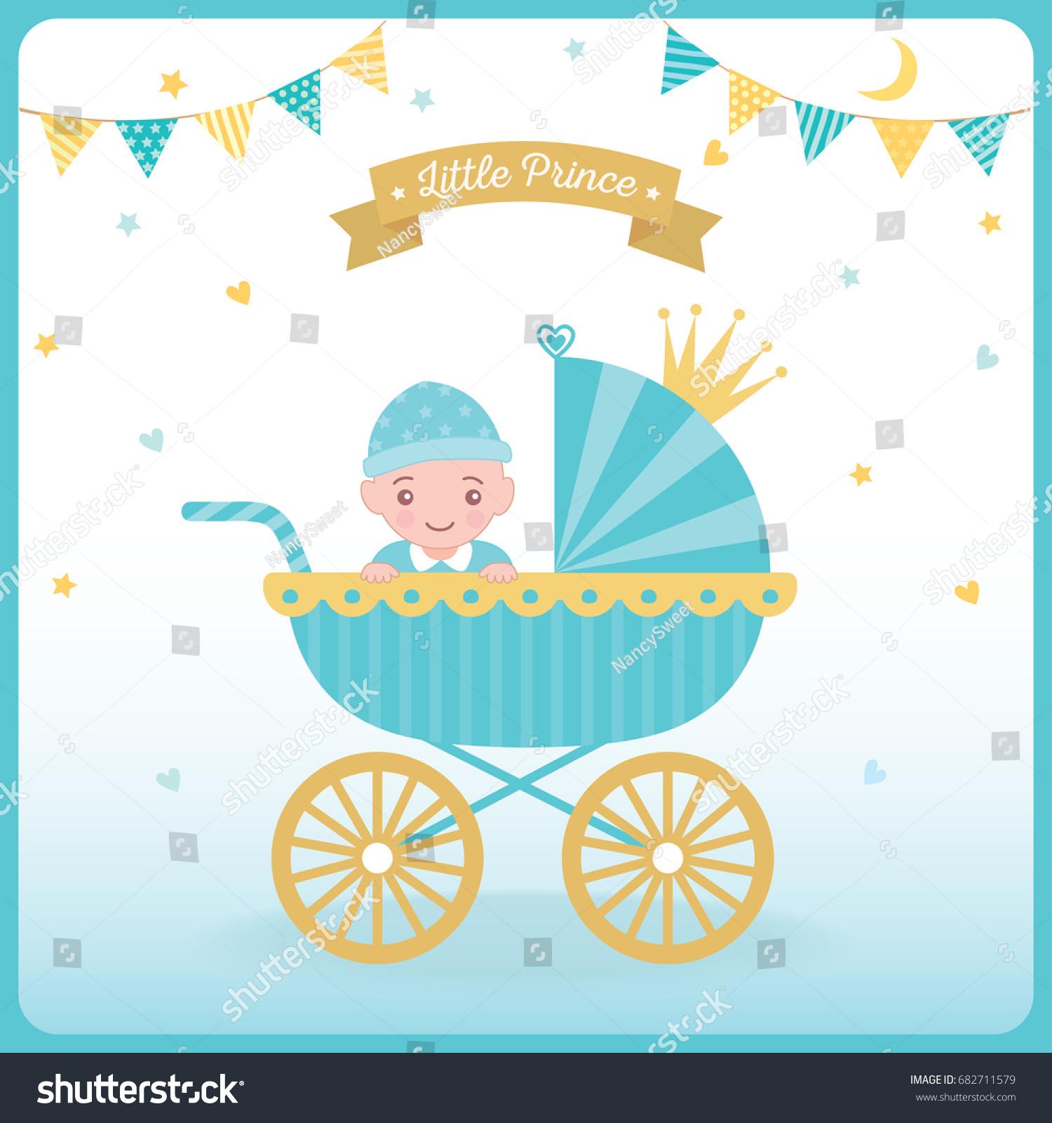 Illustration Vector Baby Boy Sitting Stock Vector