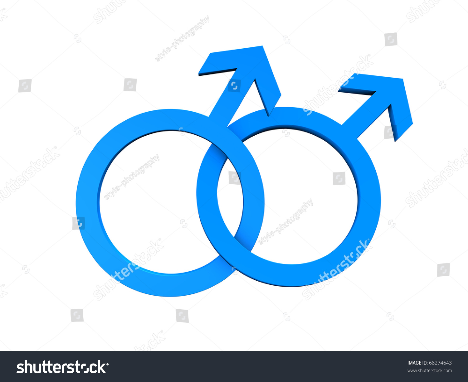 Gay Symbol Blue Color Isolated On Stock Illustration 68274643