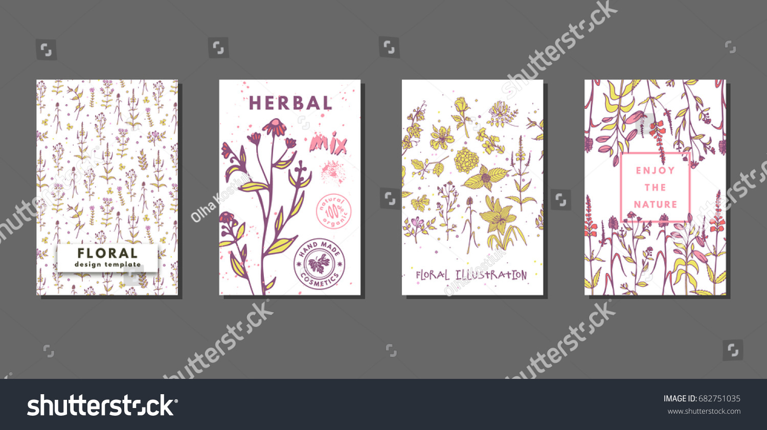 Creative floral summer journaling cards flowers stock vector creative floral summer journaling cards flowers stock vector 682751035 shutterstock stopboris Images
