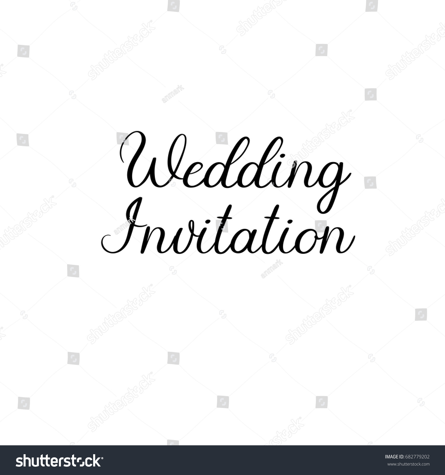 Wedding Invitation Handwritten Text Vector Brush Stock Vector HD ...