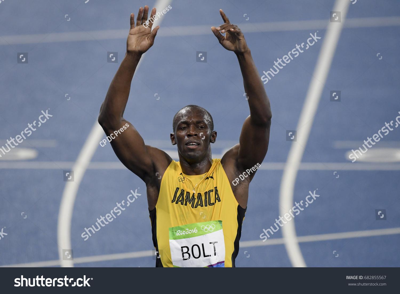 Rio De Janeiro Brazil August 18 Stock Photo Edit Now 682855567 Jam Running 2016 Runner Usain Bolt