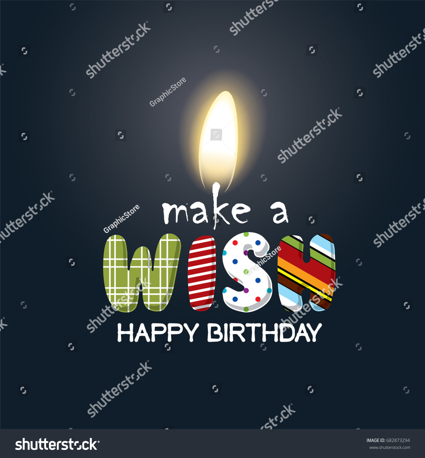 make wish birthday candle vector illustrations stock vector royalty