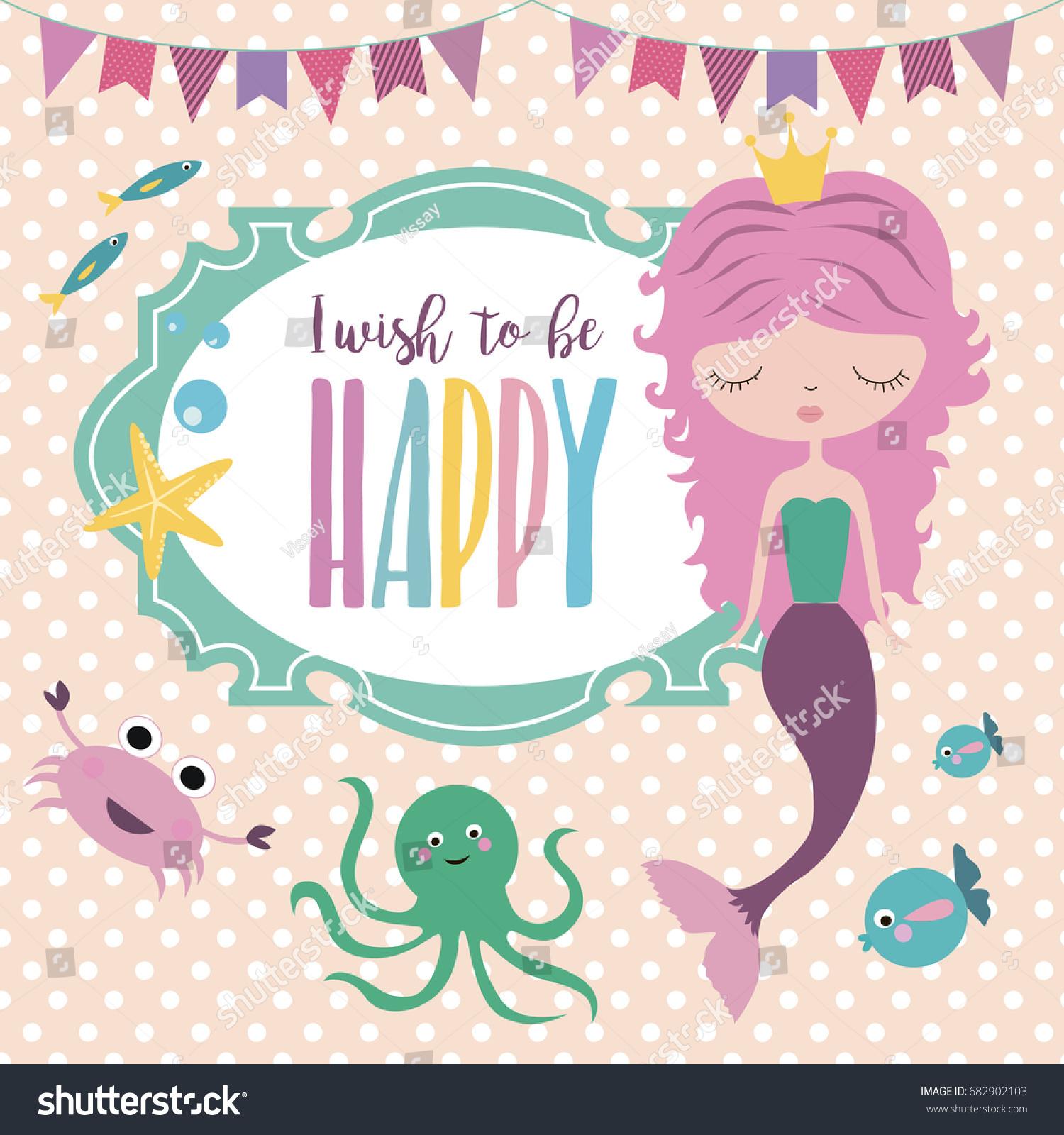 Happy Birthday Invitation Party Greeting Card Stock Vector HD ...