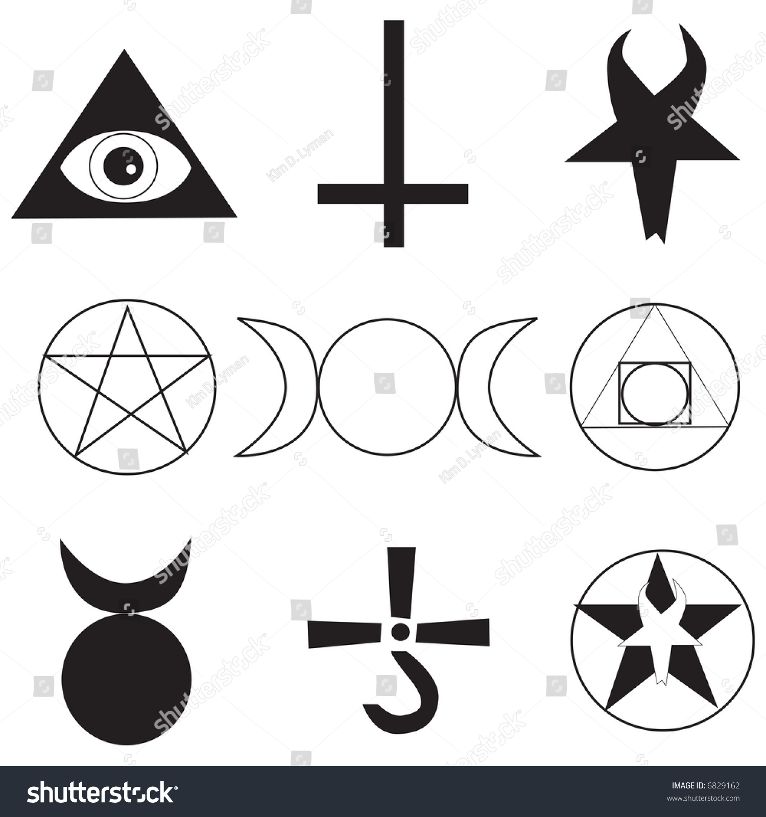 Pagan Occult Symbols Stock Vector Royalty Free 6829162 Shutterstock