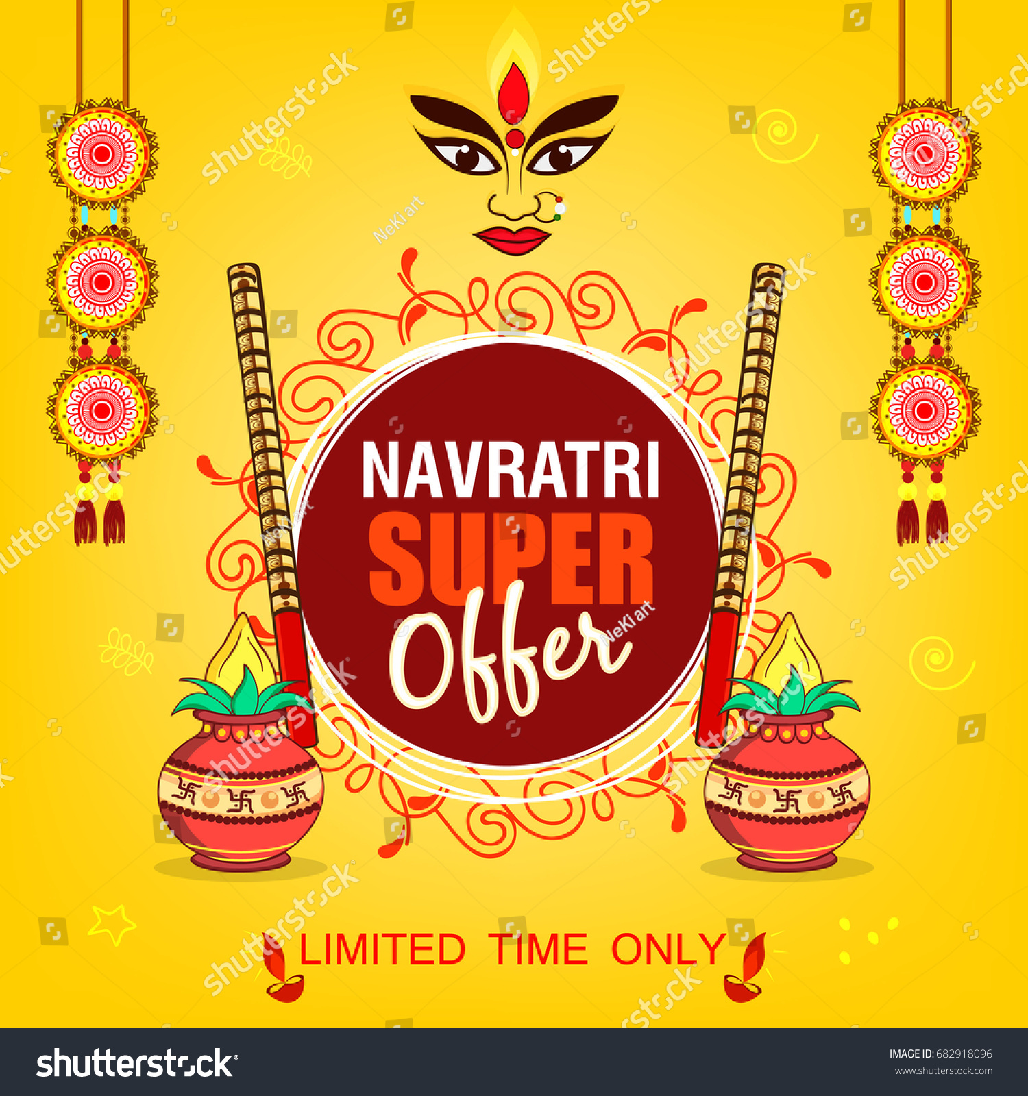 Beautiful floral frame super offer banner stock vector 682918096 beautiful floral frame for super offer banner design on the occassion of shubh navratri or durga kristyandbryce Image collections